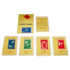 """Jerusalem Playing Cards Manufacturing Co. """"Pur"""" Ltd. """"Israel Stamp Game"""" Happy Families Game, c.1955"""
