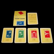 "Jerusalem Playing Cards Manufacturing Co. ""Pur"" Ltd. ""Israel Stamp Game"" Happy Families Game, c.1955"