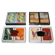 "4 Double Decks Australia Playing Cards, $10/ea.: (i) Playing Cards of Australia, ""Australian Birds""; (ii) Spicers ""Great Australian Paintings – The Heidelberg School""; (iii) Queens Slipper ""Australian Bird, Kangaroos""; and (iv) So. Cross ""Aboriginal"