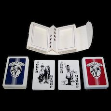 """Double Deck Mystic Games, Inc. """"Silver City"""" Playing Cards, Maker Unknown, Cartoonist Unknown, c.1982"""