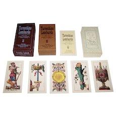 """Edizioni del Solleone di Vito Arienti """"Tarocchino Lombardo"""", Modern Edition of Gumpenberg 1835 Tarot Cards w/ Dellarocca Designs, Limited Edition (1727/2000), c.1981"""