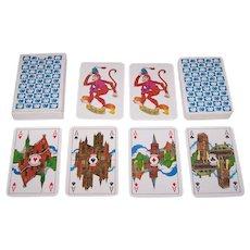 """Van Roessel B.V. """"Aesculaap"""" Playing Cards, Inga Kramer-Haantjies Designs, c.1976"""