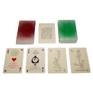 """Double Deck Luis A. Fourvel y Cia """"Naipes Estelares"""" Playing Cards, c.1950s"""