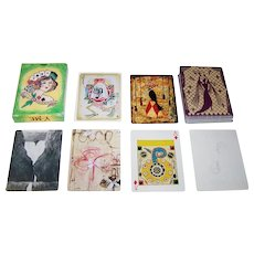 """Y-ME National Breast Cancer Organization """"A Game of Chance"""" Playing Cards, 53 Different Artists, Hollis Sigler Organizer, Printworks Gallery, c.1997"""