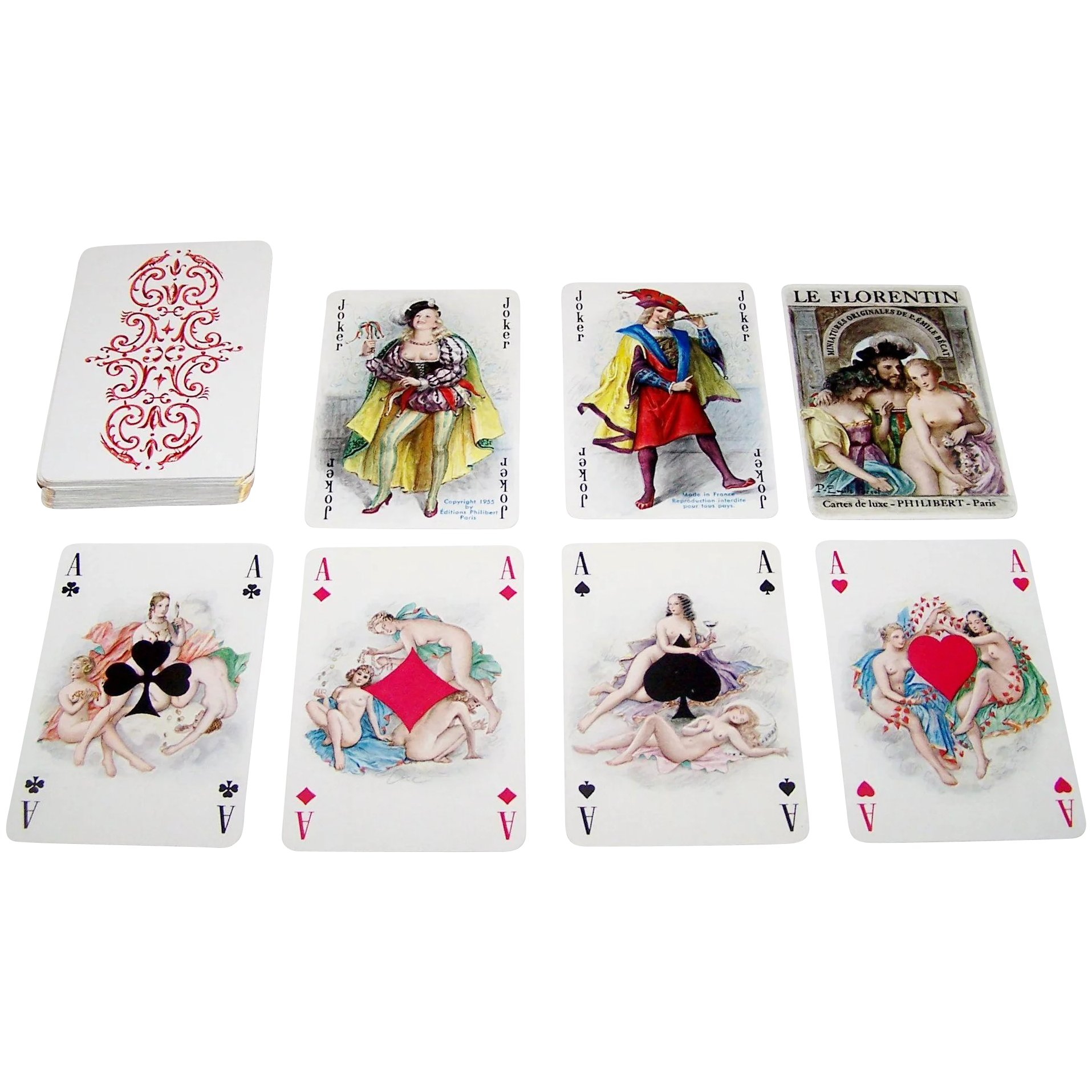 Le florentin erotic playing cards of paulemile becat - 1 part 7