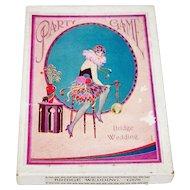 """Bridge Wedding Party Game,"" Dennis ""Dainty Series"" G676, Art Deco Illustration, c.1930"