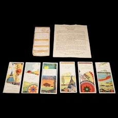 """Chas. S. Clark """"Every Player Your Partner"""" Three Table Auction Bridge Tallies (12/12), """"North American Indian Series,"""" c.1925"""