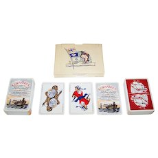 """Double Deck G. Delluc """"Corsaires et Flibustiers"""" Playing Cards, G. Delluc Designs, Philibert Publ. (?), c.1958"""