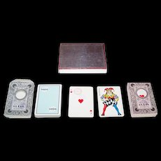 """Double Deck Oberg """"Volvo"""" Playing Cards, Standard Swedish Pattern, c.1960"""