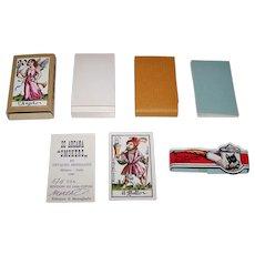 "Il Meneghello ""22 Arcani Fumatori"" (""Smokers"") Major Arcana Tarot Cards, Osvaldo Menegazzi Designs, Signed Ltd. Ed. (96/2500), c. 1981"