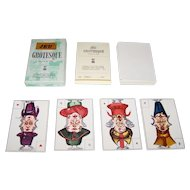 """Edizioni del Solleone """"Jeu Grotesque"""" Piquet Playing Cards, Limted Edition (63/999), c.1977 [Facsimile Edition, French Deck c.1800]"""