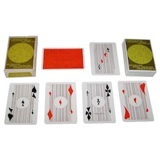 """Heron """"Courvoisier, SA"""" Playing Cards, Editions Dusserre Publisher, Yves Pinon Designs, c.1976"""