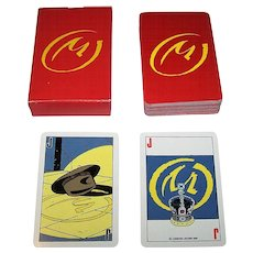 """Carta Mundi """"Blake and Mortimer"""" Playing Cards, Edgar P. Jacobs Designs, c.1985"""