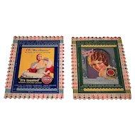 "2 Lucky Strike Milton Work Bridge Cards, c.1930s, $20/ea.: (i) ""OK – Miss America!"" No. 47; (ii) ""Cream of the Crop – June Collyer"" No. 35"