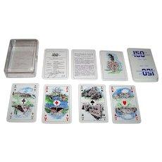 """Drukkerij Thijs """"150 Years of Gasselternijveenschemond"""" Playing Cards, Ben Gengler Publisher, Johan Rietberg Designs, Silkscreen Printed, Ltd. Ed. 136/300, c.1990"""
