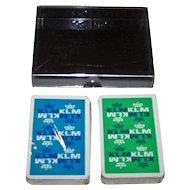 "Double Deck Carta Mundi ""KLM"" Playing Cards, Max Velthuijs Designs, c.1970s"