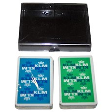 "Double Deck Carta Mundi ""KLM"" Playing Cards, Max Velthuijs Designs, c.1970s"