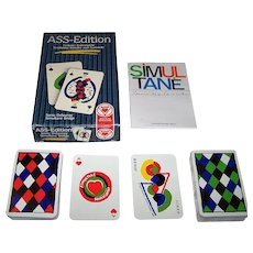 "Double Deck ASS ""Simultané"" Playing Cards, Sonia Delaunay Designs, 2nd Edition, c.1980"
