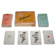 """Double Deck OTK """"Baker's Emperor"""" Patience Playing Cards, c.1950s"""
