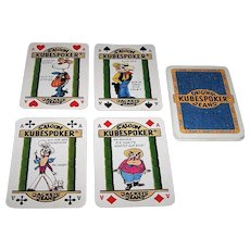 """Kubespoker"" Advertising Playing Cards (20) for Poker Jeans and Jackets, Royal Flush Poker Hands, Maker and Artist Unknown, c.1980s"