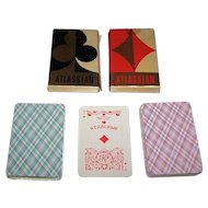 """Twin Decks Russia State Printing Works """"Atlassian"""" Playing Cards, 36-Card Decks, c. 1980s, $15/ea"""