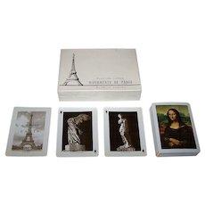 """Fournier """"Monuments de Paris"""" Souvenir Playing Cards, c.1963"""