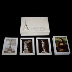 "Fournier ""Monuments de Paris"" Souvenir Playing Cards, c.1963"