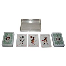 """Double DeckCoeur """"Hunting"""" Playing Cards, c.1982"""