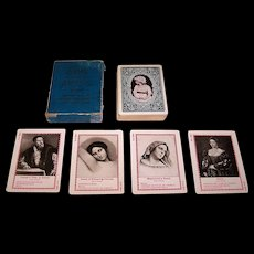 "Fireside Game Co. (USPC) ""Game of Artists"" Quartette Card Game, c.1897"