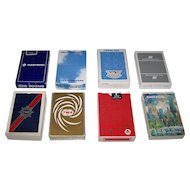 "8 Decks Airline Playing Cards, $5/ea.: (i) Easter Airlines ; (ii) Braathens SAFE; (iii) Pan Am; (iv) United Airlines; (v) TWA; (vi) TWA ""Nu Vue""; (vii) Delta Airlines; and (viii) Delta ""Chicago"""