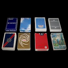 """8 Decks Airline Playing Cards, $5/ea.: (i) Easter Airlines ; (ii) Braathens SAFE; (iii) Pan Am; (iv) United Airlines; (v) TWA; (vi) TWA """"Nu Vue""""; (vii) Delta Airlines; and (viii) Delta """"Chicago"""""""