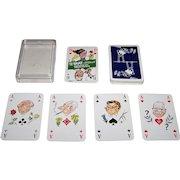 """ASS """"Politisch"""" Skat Playing Cards, Wilhelm Hartung Designs, c.1976"""