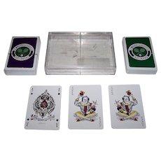 "Double Deck Richard Edward ""Wimbledon"" Playing Cards, ""Standard Goodall"" Pattern"