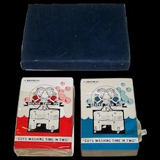 """Double Deck Brown & Bigelow """"Dexter Twin Tub"""" Advertising Playing Cards, c.1949"""