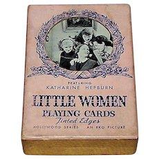 "Western ""RKO Little Women"" Playing Cards, Katherine Hepburn, Joan Bennett, et al., Hollywood Series, c.1933"