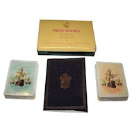 """Double Deck Fournier """"Historical"""" (Discovery / Colonization America) Playing Cards, Summers Designs, c.1957"""