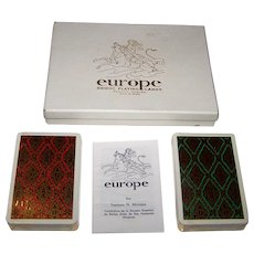 """Double Deck Fournier """"Europe"""" Playing Cards, Teodoro Miciano Designs, c.1962"""