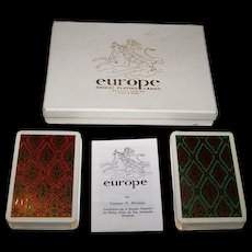 "Double Deck Fournier ""Europe"" Playing Cards, Teodoro Miciano Designs, c.1962"