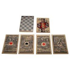 """Frommann & Morian """"Französische Spielkarte"""" Skat Playing Cards, Brazilian Aces (Dutch Cities), c.1890"""