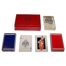 """Double Deck E.E. Fairchild """"Bailey, Banks & Biddle"""" Playing Cards, Past-L-Eze Joker, c. 1930s"""