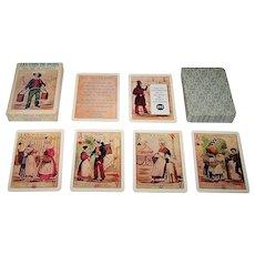 """Grimaud """"Les Cris de Paris"""" Playing Cards, Different Faces, c.1969"""