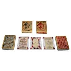 """Twin Decks Editions Dusserre (Boechat Frères) """"Jeu de la Pucelle 15th Siecle"""" Playing Cards, c.1976 ($15/ea.)"""