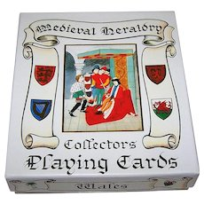 """ASS """"Medieval Heraldry Collectors' Playing Cards,"""" Heraldic Times, Ltd. Publ., c.1992"""
