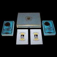 """Double Deck Congress """"Camp David"""" Playing Cards, c.1950s (?)"""