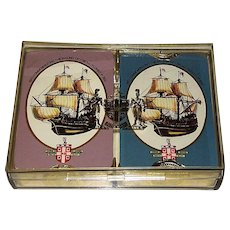 """Double Deck Worshipful Company Playing Cards, """"The Mayflower 1970"""""""