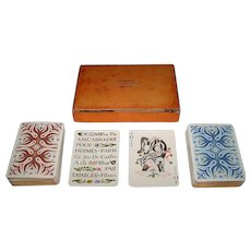 "Double Deck Draeger-Freres ""Hermes"" Playing Cards, Cassandre Designs, First Edition, c.1948"