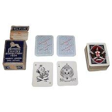 "Goodall Elfin ""British Empire Exhibition 1924"" Playing Cards (51/52, J, 2EC) Mini-Patience Souvenir of British Colonial Exhibition, c.1924"