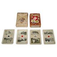 "Dondorf ""Schweitzer Trachten"" (""Swiss Costumes"") Large Patience Playing Cards, Dondorf No. 190, c. 1906"