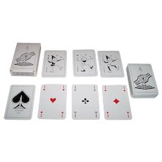 "Carta Mundi ""POSIMU XV"" Playing Cards, Black and White Flemish Pattern Courts (Modern Variant)"