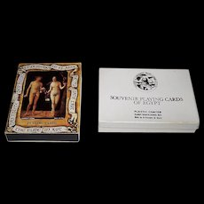 "2 Decks Fournier Playing Cards, $15/ea.: (i) ""The Nude in Art"", c.1977; and (ii) ""Souvenir Playing Cards of Egypt,"" Lehnert & Landrock, c.1980"